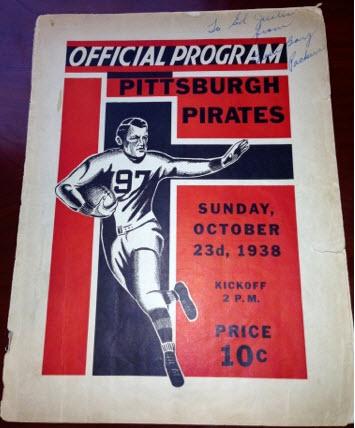 1938 Green Bay Packers program