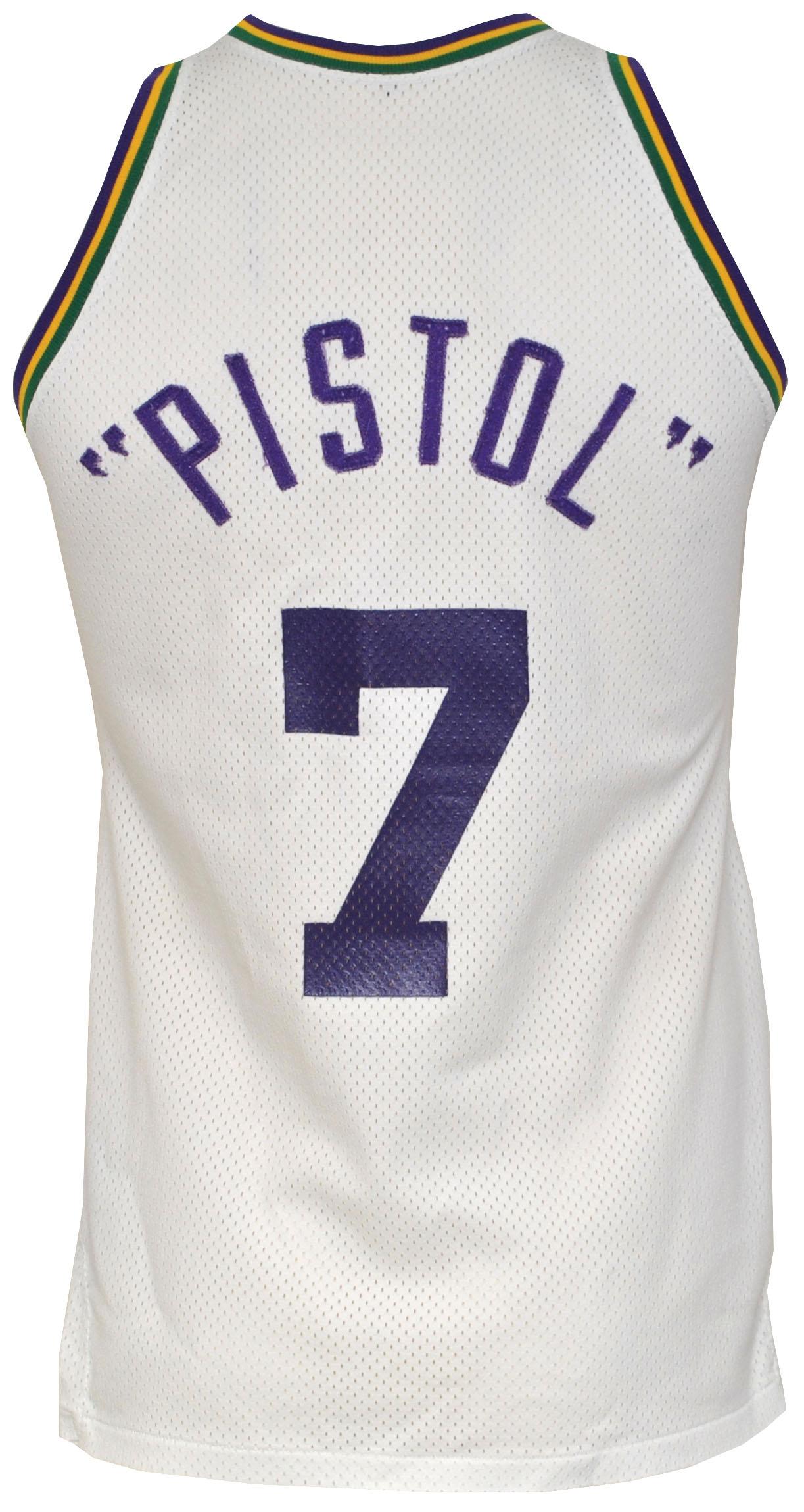Pistol Pete Maravich game jersey Jazz