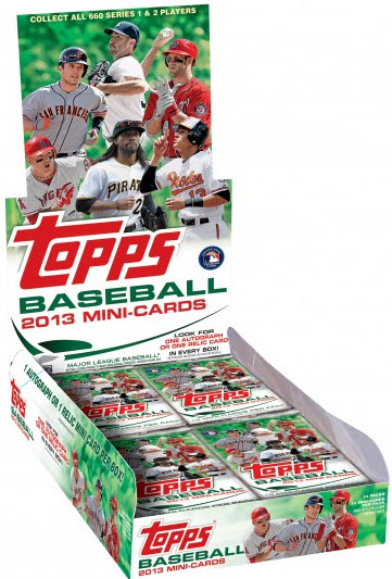 Topps Mini Baseball Box 2013