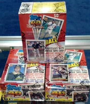 1991 Topps Desert Shield boxes