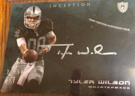 Inception Tyler Wilson autograph