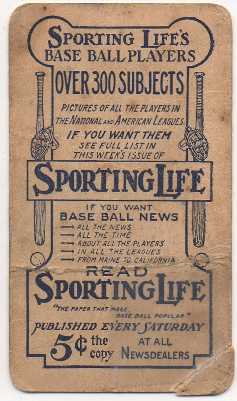 Sporting Life Frank Smith back