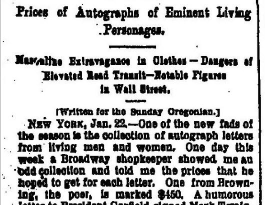 Autograph story 1888