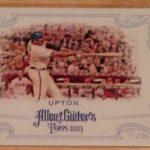 2013 Allen Ginter hidden box lid card Justin Upton