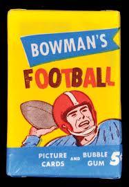 1955 Bowman football pack