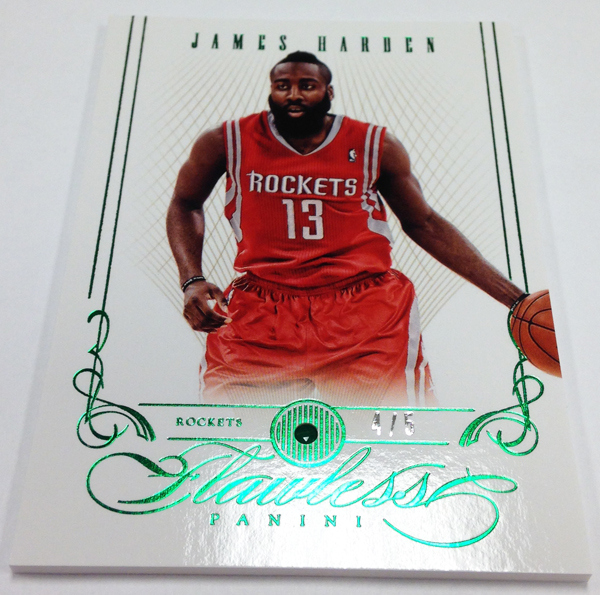 Emerald embed James Harden Flawless basketball card