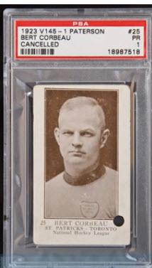 Bert Corbeau hockey card Paterson
