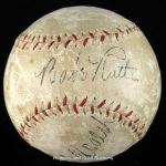 Autographed Babe Ruth baseball Christy Walsh