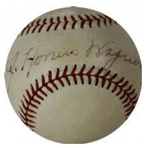 Autographed Honus Wagner baseball