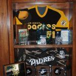 Padres memorabilia display