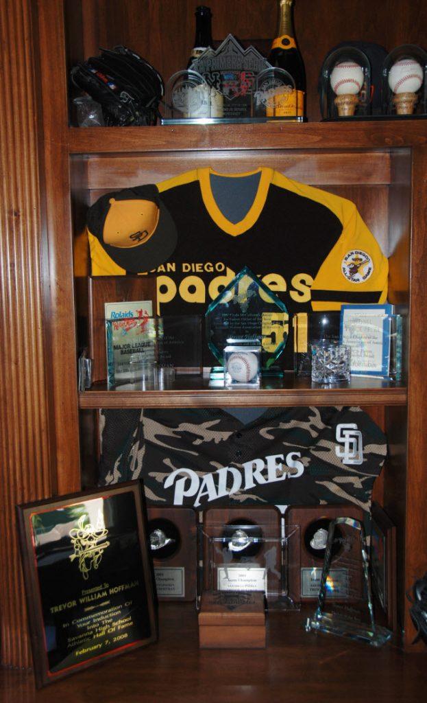 Trevor Hoffman home jersey display