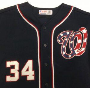 Game worn Bryce Harper jersey