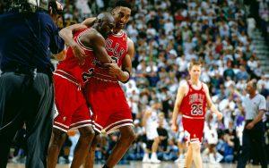 Scottie Pippen Michael Jordan Game 5 1997 NBA Finals