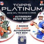 Topps Platinum football box 2013