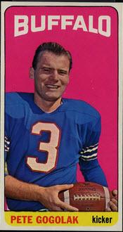 1965 Topps Pete Gogolak