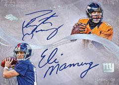 Eli Peyton Manning 2013 Topps Five Star dual autograph