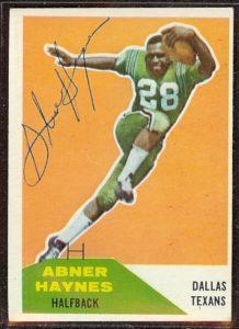 Abner Hayes autographed 1960 Fleer
