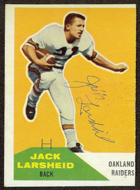 Autographed Jack Larsheid 1960 Fleer