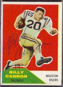 Billy Cannon 1960 Fleer auto