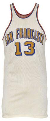 Wilt Chamberlain game jersey San Francisco Warriors