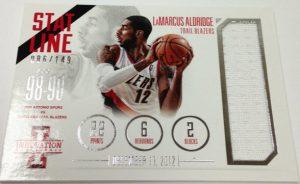 Stat Line Game Jersey Card Lamarcus Aldridge