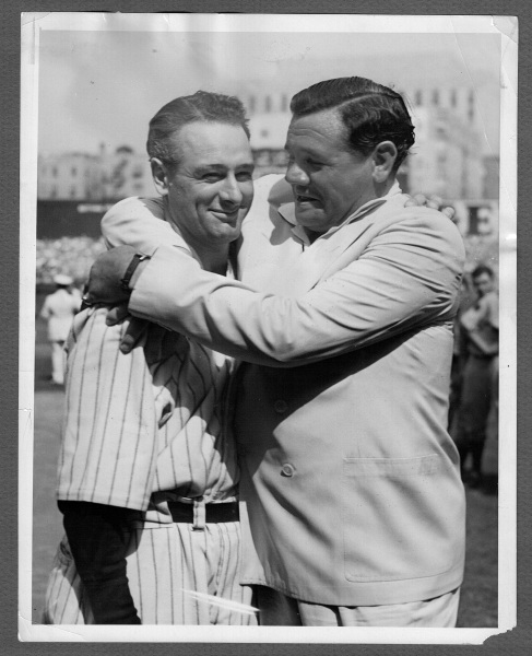 Babe Ruth Lou Gehrig 1939