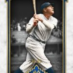 Topps 2014 Museum Babe Ruth blue parallel