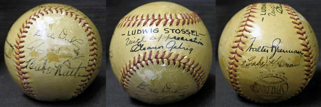Autographed baseball Pride of the Yankees