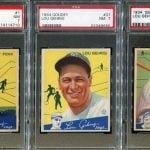 PSA 7 1934 Goudey Gehrig Foxx