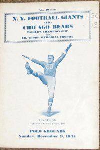 NFL Championship Program 1934