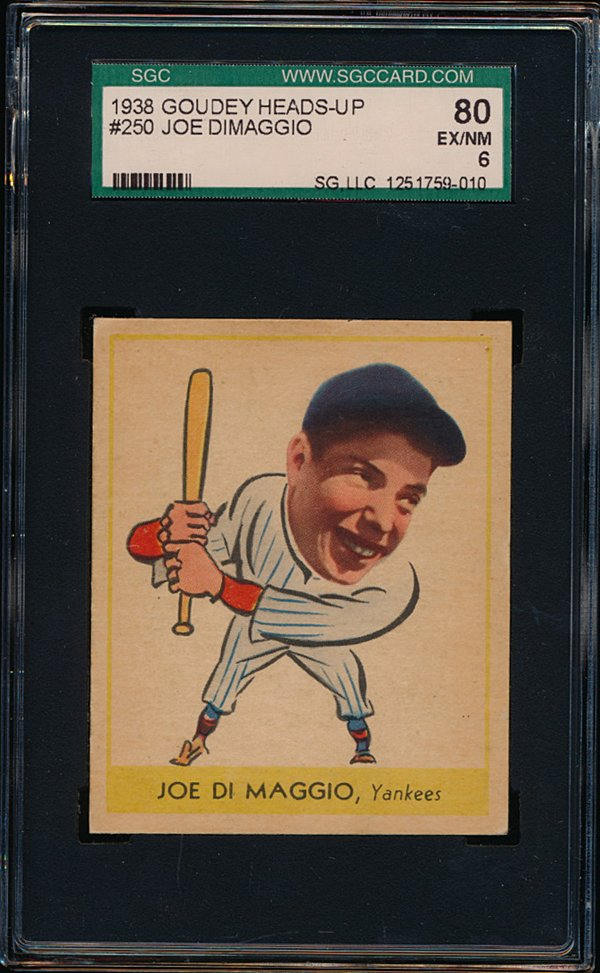 1938 Goudey A DiMaggio Front