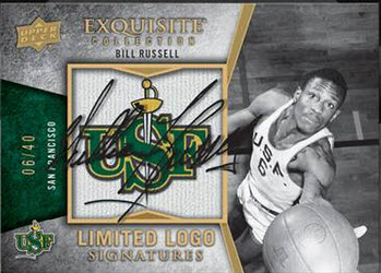 Bill Russell 2012-13 Exquisite autograph