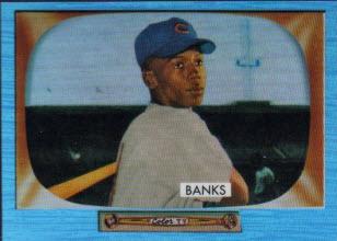 2013 Bowman Blue Sapphire rookie Ernie Banks
