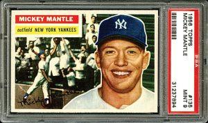 Mickey Mantle 1956 Topps PSA 9