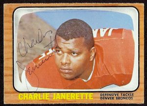 Charlie Janerette autographed 1966 Topps