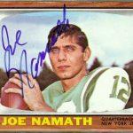 Joe Namath 1966 Topps autographed card