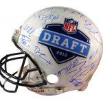 NFL draft 2012 signed helmet