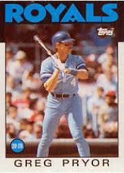 Greg Pryor 1986 Topps