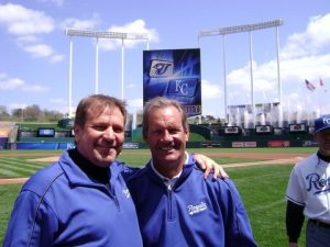 Greg Pryor and George Brett