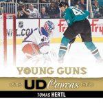 Tomas Hertl rookie card Upper Deck Young Guns Canvas