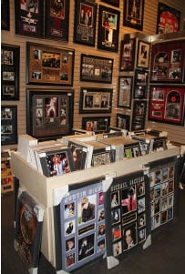 Sports memorabilia at Las Vegas Field of Dreams store