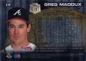 Greg Maddux 1997 Topps Mint back