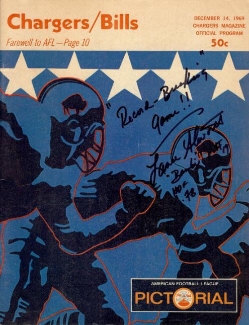 1969 Chargers-Bills program
