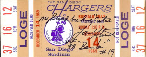 Chargers-Bills ticket 1969