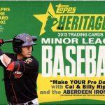 Topps 2013 Heritage Minors box