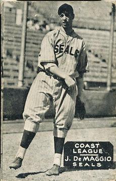 Joe DiMaggio Zeenuts PCL card