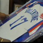 Expos game worn jersey Ellis Valentine