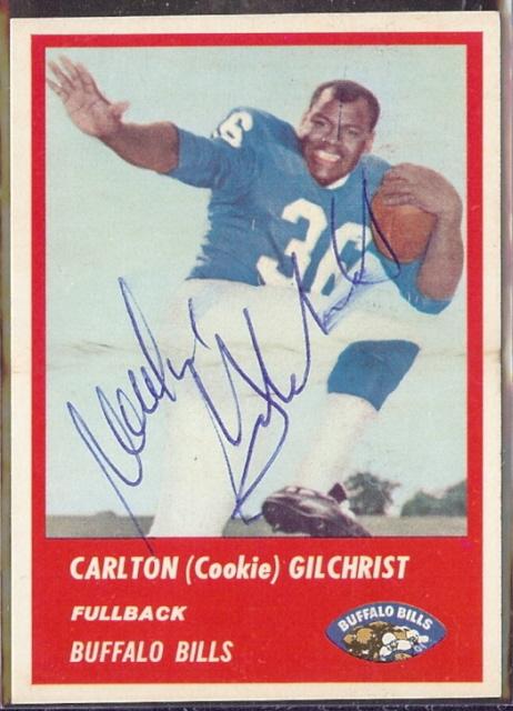 Cookie Gilchrist 1963 Fleer
