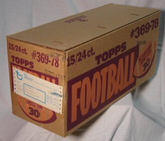 Football Cello Case 1978 Topps