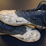 Game worn cleats Julius Peppers
